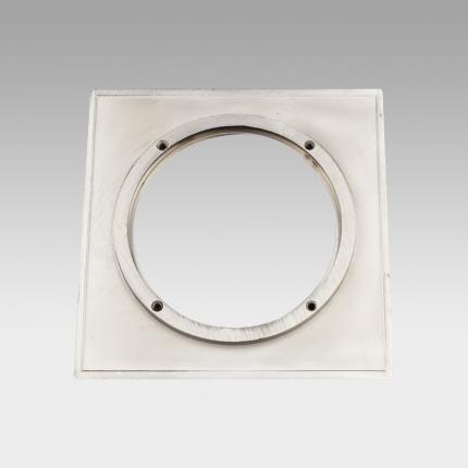 CORONA LED Fixed Downlight Square Trim Brushed Nickel