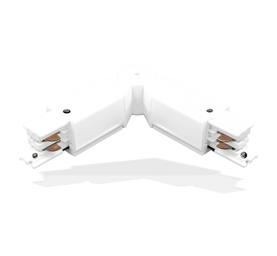 Tracklight Accessory - White 180⁰ Flexible Track Bracket