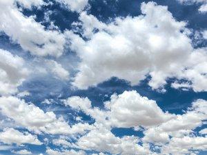 Beautiful white clouds against a blue sky.